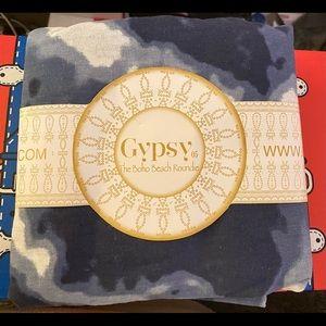 Gypsy 05 Brand - Boho Beach Roundie/Blanket - Blue